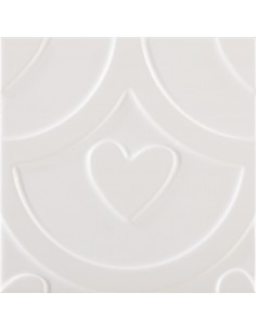 Azulejo AGATHA Coeur Blanco...