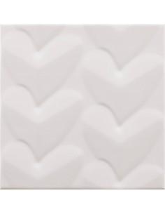 Azulejo AGATHA Mille Cuori Blanco 25x25cm de PAMESA