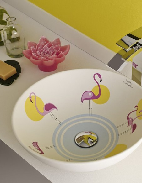 Lavabos Pink Flamings de Bathco